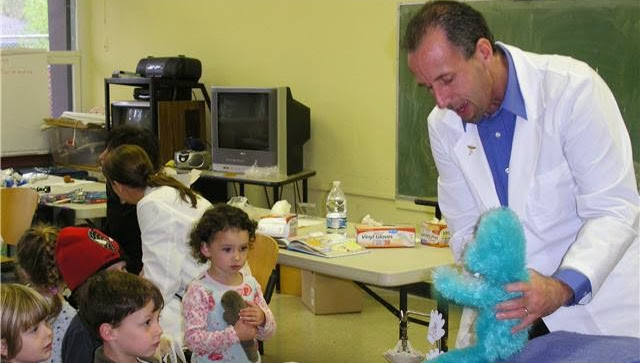 Dr. Gans with kids